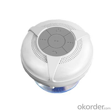 Bluetooth Shower Speakers with Suction Cup White Waterproof Stereo Wireless