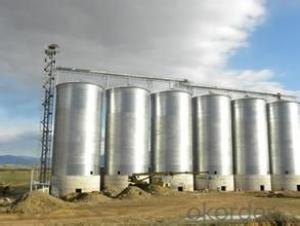 Hot dip galvanized flat bottom 5000t wheat silo for sale