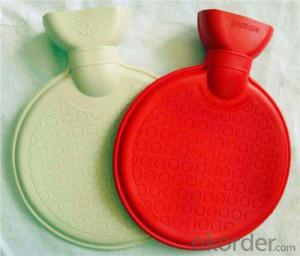 Round Shape Hot Water Bottle 1000ml PVC or Rubber with 2 Side Rip