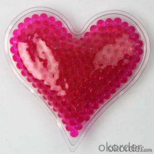 Top Quality Fashion Crystal gel beads hot cold pack-Heart