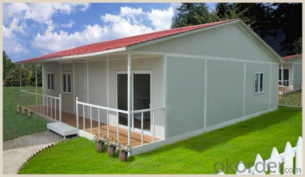 Buy Prefabricated Steel Frame Structure Sandwich Panel House with ...