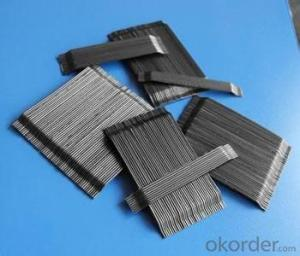 Prefabricated construction material steel fiber