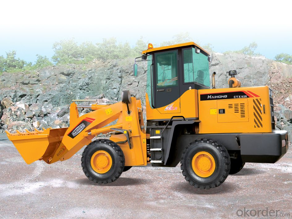 construction machine Haihong CTX928 wheel loader, cheap wheel loader