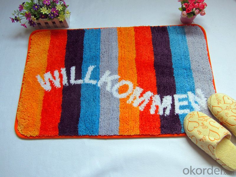 Washable Door mat with Memory Foam and Latex Backing