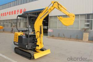 2.2 ton mini mechanical hydraulic excavator track crawler