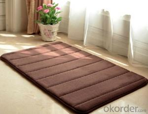 Microfiber Bath Mat with Memory Foam PVC backing