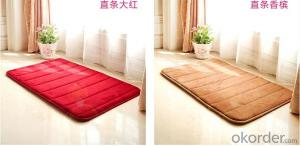 Microfiber 100% Polyester Floor Mat, Anti Slip Mat, Flooring Mat