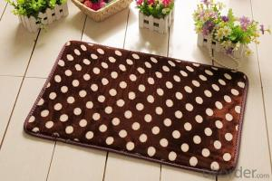 Bath Mat PVC Foam Coral Fleece Anti-fatigue Mat Water Absorbing