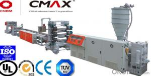 Highly Transparent S-PVC Sheet Extrusion Line