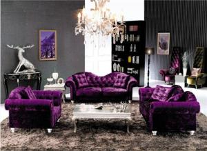 Living Room Sofa Set Velvet Fabric Model 838