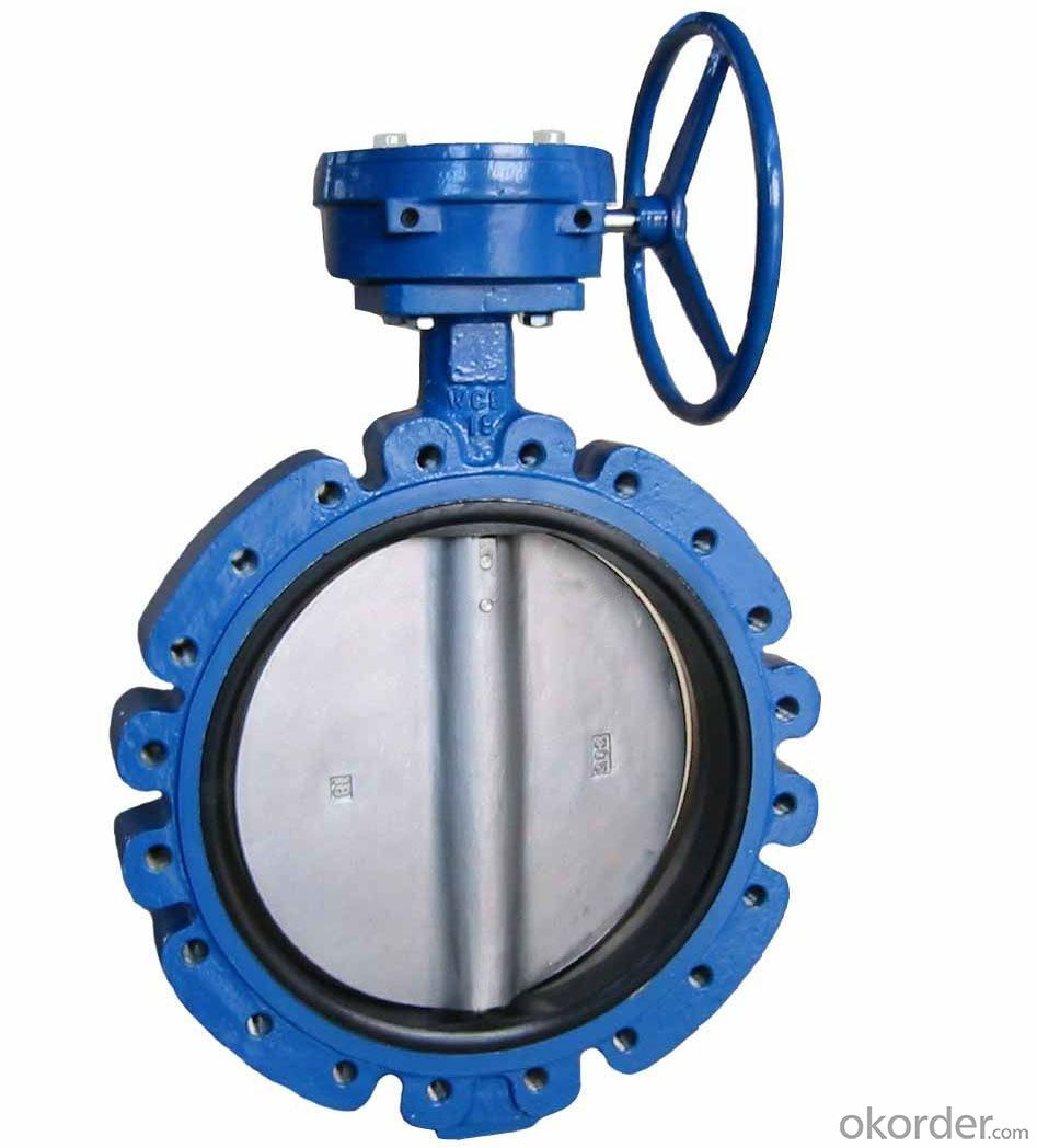 Buy Pneumatic Double Flange Butterfly Valve Made In China
