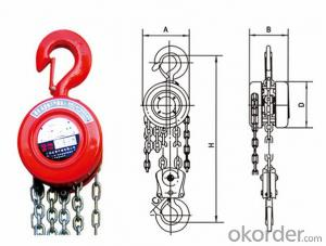 8t SK High Quality Manual Chain Block Chain hoist