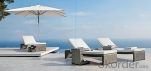 Sun Bed  in Rattan Sun lounger  Patio Wicker Outdoor Furniture