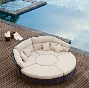 Rattan Sun lounger  Patio Sun Bed Wicker Outdoor Furniture