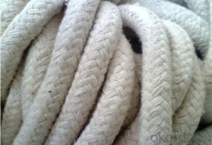 White ceramic fiber twist rope for high temperature heat resistance