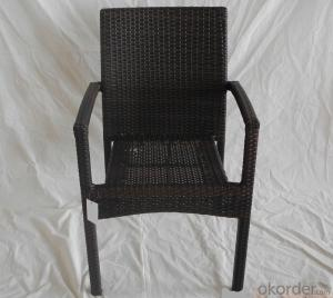 Patio Wicker Outdoor Rattan Single Chair for Garden CMAX-SC007