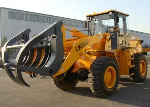 3t Wheel Loader with Log Fork and CE, LW350 Model