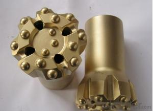 top hammer drilling rig thread button bit from China for hardness rock