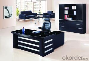 Office Table/Commerical Desk Classical Boss Table Solid Wood/MDF/Glass with Best Price CN594B