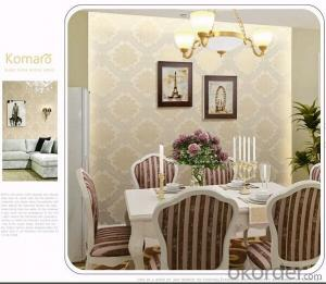 PVC Wallpaper Home Improvement Luxury Embossed For Home Room Decor
