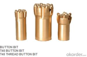 thread drilling bit from China R32 T38 T45 T51 all kinds of button angle