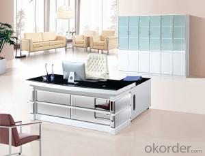 Office Table/Commerical Desk Classical Boss Table Solid Wood/MDF/Glass with Best Price CN594C