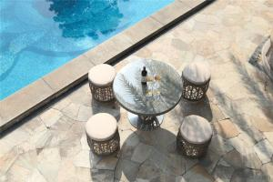 Round Shape Garden Dinning Set  for Outdoor Furniture CMAX-DC007LJY