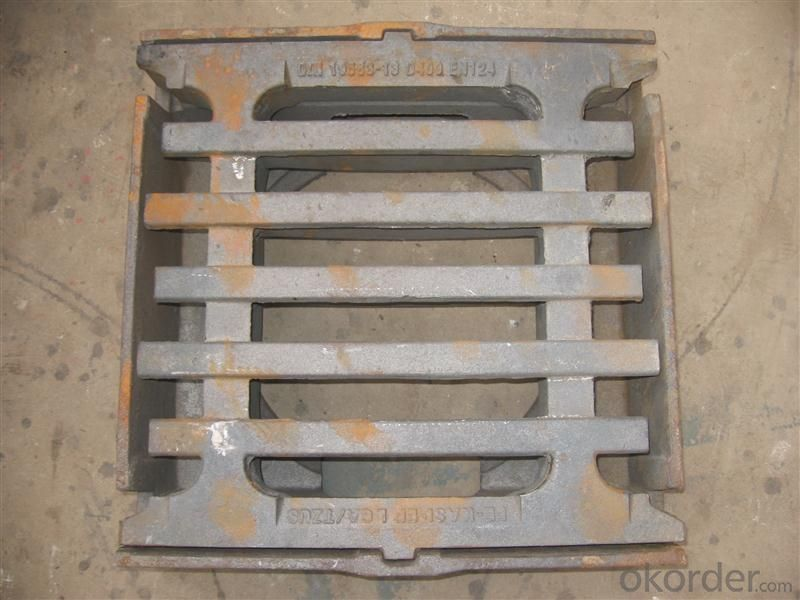 Manhole Cover Square  with Frame EN124 D500 Foundry Stock