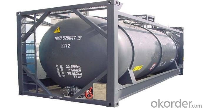 40FT Steel Shipping Tank Container for Storing Fuel and Gas