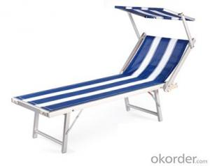SGS certificated Recling Outdoor Pool Beach Adjustable Textilene Sun Lounger