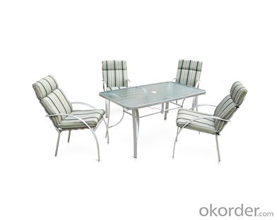 Texitilene Outdoor Extension Dining Table and Chair