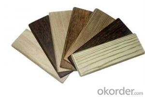 composite decking flooring WPC board / Hollow and grooved WPC