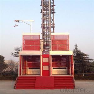 Building Hoist SC160/160 Twin Cage 0~60m/min