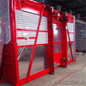 Building Hoist Red Appearance Twin Cage 0~60m/min