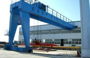 CE ISO SGS heavy duty double beam semi gantry crane
