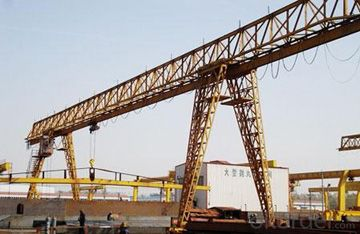 Top design truss type single beam gantry crane for out door usage