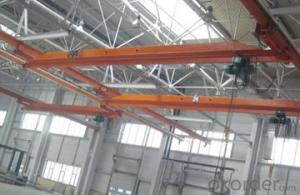 Under hang single beam overhead crane with electric hoist