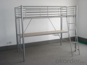 Metal Bunk  Bed with Workstation Modern design MB313