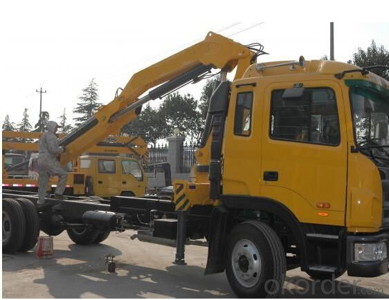 hydraulic cargo crane truck with FOTON truck chassis with 5 ton Euro 4