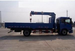 truck crane with dongfeng chassis loading capacity of 16000kgs