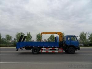 HOWO truck & Hydraulic Telescopic Truck-mounted Loading Crane 7ton