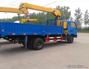 Mounted truck 6x4 truck with 8ton loading crane for sale
