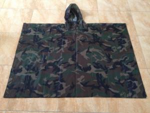 Military Camo Poncho Raincoat MR002 in Stock