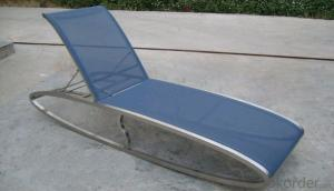 Funiture Outdoor Sun Lounger with Texitilene Material