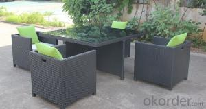Funiture Outdoor Dining Sets with Grade A Rattan Wicker