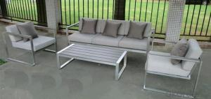 Funiture Outdoor Dining Sets with PVC PP Wood