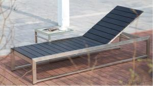 Funiture Outdoor Sun Lounger with Plastic Wood Environmental Material