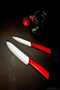 Ceramic Knife Colorful PP Handle Antibacterial Kitchen Knife