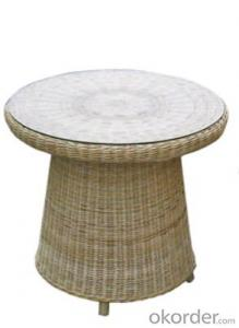 Outdoor Furniture Leisure Garden Table & Chairs With PE Rattan Wicker Material