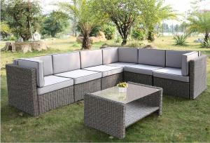 Outdoor Furniture Leisure Garden PE Rattan Garden Sofas